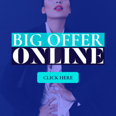 Ad Banner Template for Online Offers 543c