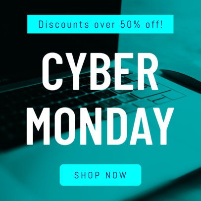 Ad Template for a Cyber Monday Sale 747b