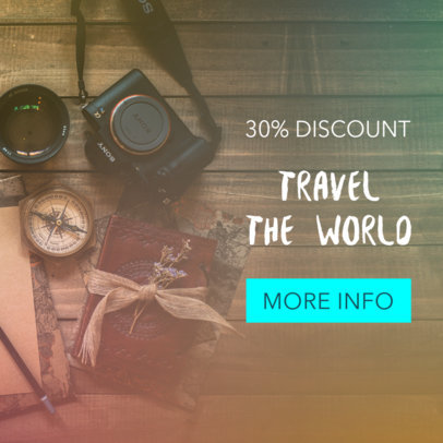 Half Price Travel Deals Banner Ad Maker 542c