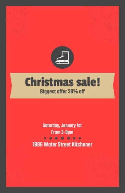 Christmas Flyer Design Maker for a Holiday Sale 854c
