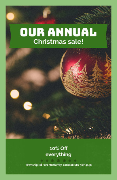 Christmas Sale Flyer Template 854e