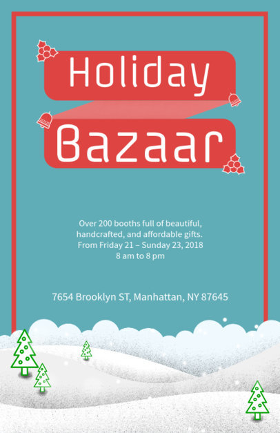 Simple Christmas Flyer Generator for a Holiday Bazaar 867e