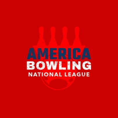 Bowling Logo Creator for a National Bowling League 1585b