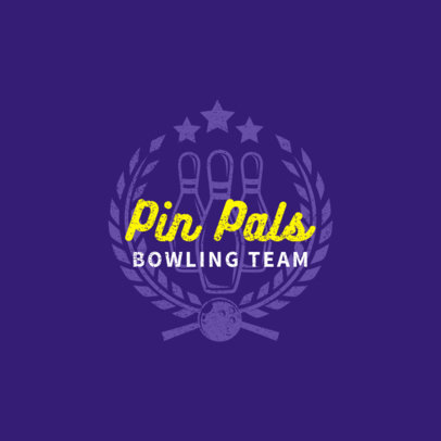 Bowling Logo Design Template for Bowling Teams 1585c