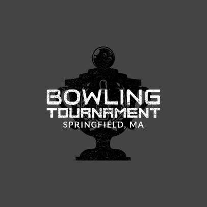 Bowling Logo Generator for a Bowling Tournament 1585a