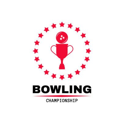 Bowling Logo Generator for a Bowling Championship 1589a