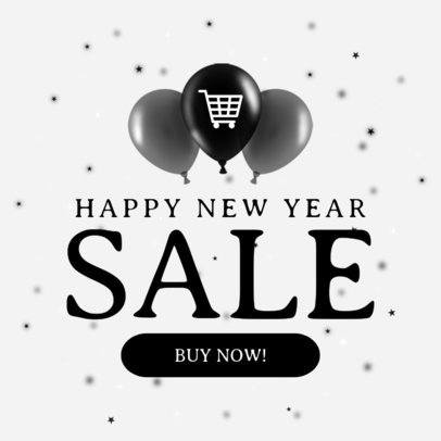 Ad Banner Maker for a New Year's Banner 749f