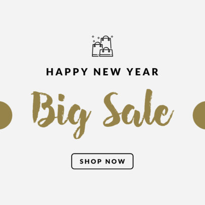 New Year's Sale Ad Banner Maker 746f