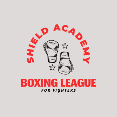 Boxing Logo Design Template for Boxing League 1584c