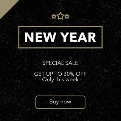Online Banner Maker for a New Year's Special Sale Ad 745f