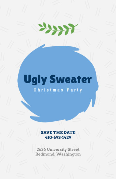 Christmas Flyer Creator for an Ugly Sweater Christmas Party 842e
