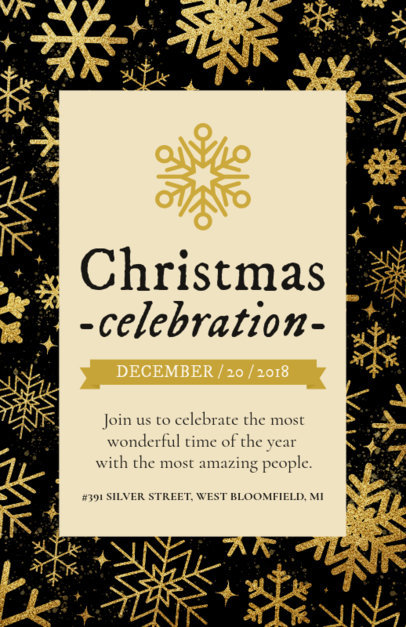 Holiday Flyer Design Template for an Xmas Celebration 848a