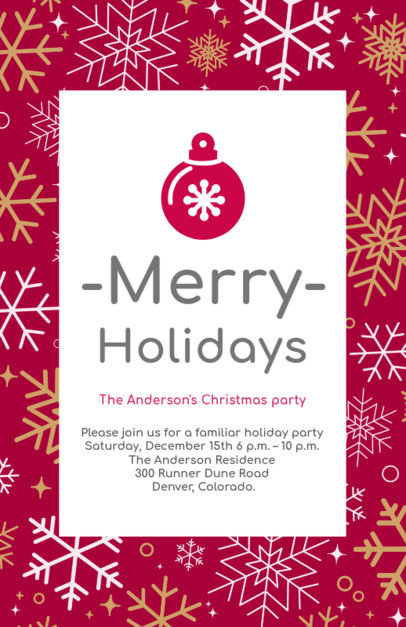 Holiday Flyer Design Maker for Family Christmas Parties 848d