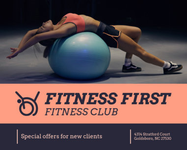 Fitness Club Vinyl Banner Template 791d