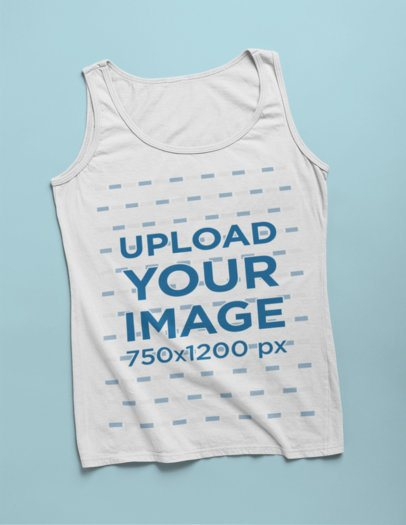 Tank Top Mockup with a Solid Background 24196