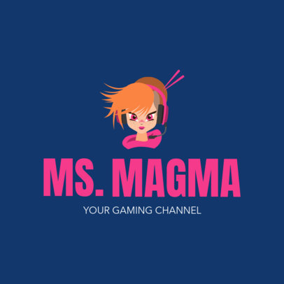 Gaming Channel Logo Maker with Cool Avatar1323g