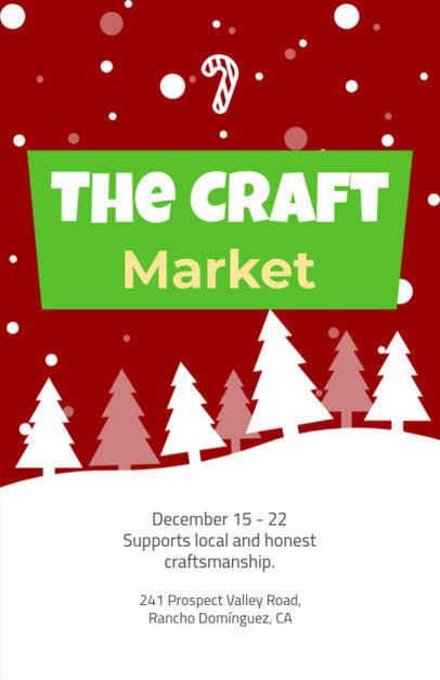 Holiday Flyer Generator for a Winter Market 862b