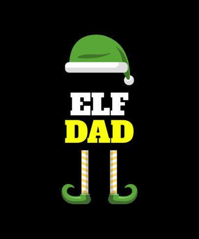 Christmas Elf T-Shirt Design Generator 829c
