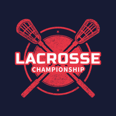 Lacrosse Logo Generator for a Lacrosse Championship 1590c