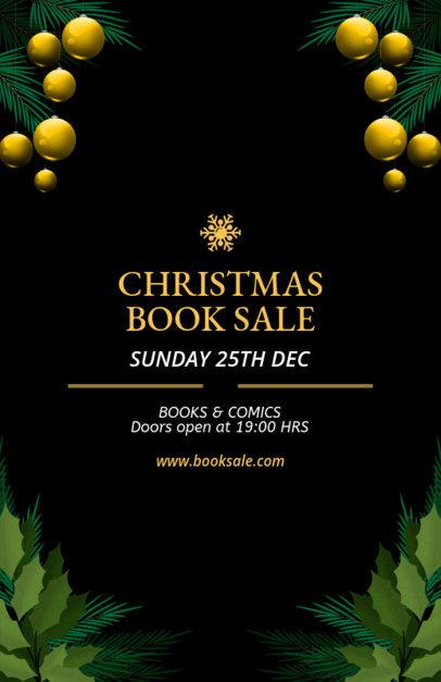 Xmas Sale Flyer Maker for a Book Sale 856b