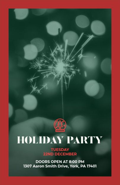 Holiday Online Flyer Maker with Sparklers in the Background 850b