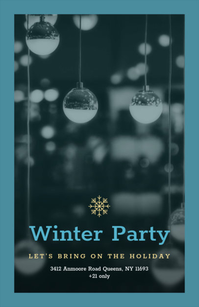 Holiday Flyer Maker for a Winter Party 850d