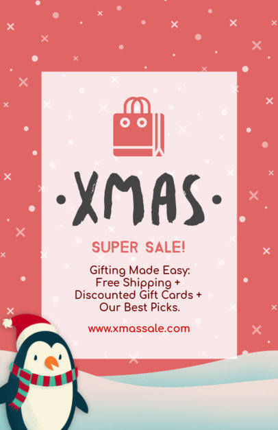 Christmas Flyer for an Xmas Super Sale 852d