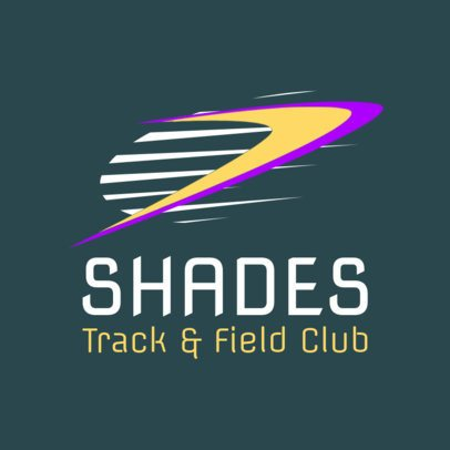 Track and Field Logo Maker for a Track and Field Club 1544b