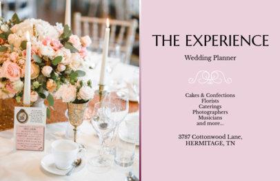 Wedding Planner Flyer Maker with Horizontal Orientation 715c