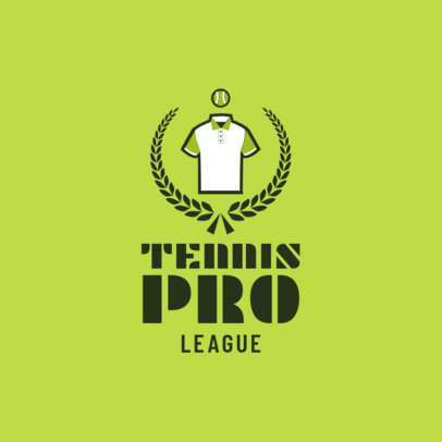 Tennis Logo Maker for a Tennis Pro League 1601b