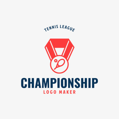 Tennis Logo Generator for Tennis League Championship 1604e