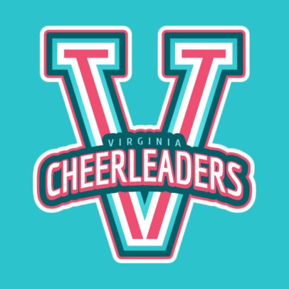 Cheerleader Logo Generator for a Cheer Squad 1597a