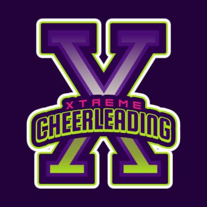Extreme Cheerleading Logo Creator 1597b