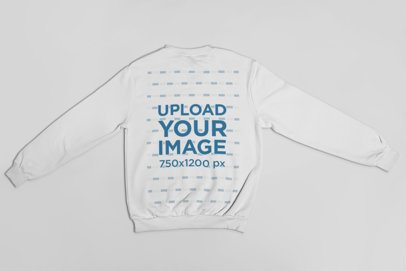 Sweatshirt Mockup Featuring a Solid Background 23863