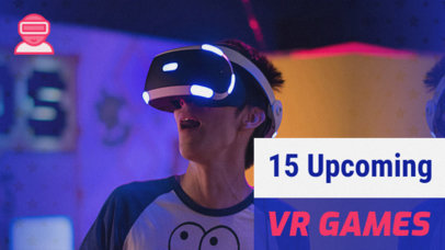 YouTube Thumbnail Template for a VR Gaming Channel 885a