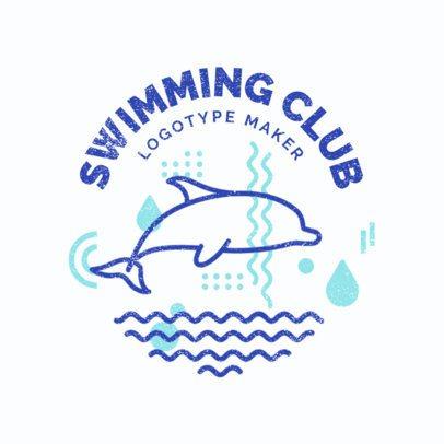 Swimming Logo Maker for Swim Clubs 1575