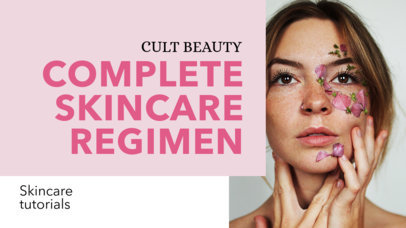 YouTube Thumbnail Template for a Skincare Vlog 884