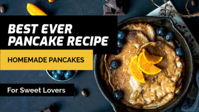 Youtube Thumbnail Design Template for Best Homemade Pancake Vlogs 901c
