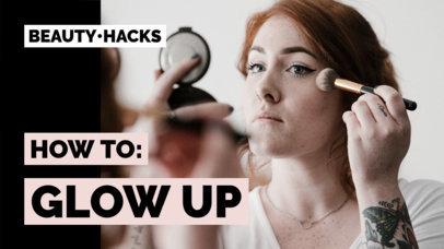 Minimalistic YouTube Thumbnail Maker for a Beauty Hacks Vlog 934