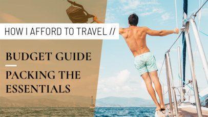 YouTube Thumbnail Design Maker for a Travel Vlogger 891d