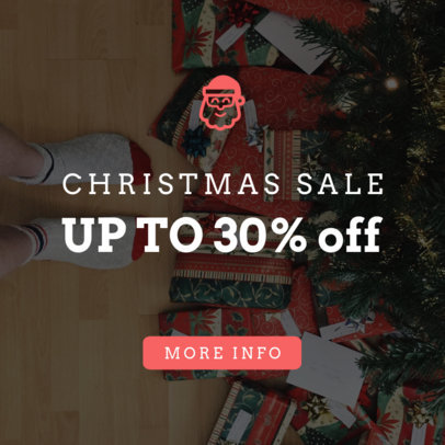 Holiday Sale Banner Template for a Christmas Sale 779a