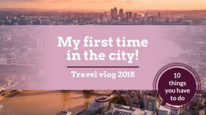 YouTube Thumbnail Maker for a Travel Vlog Channel 897c