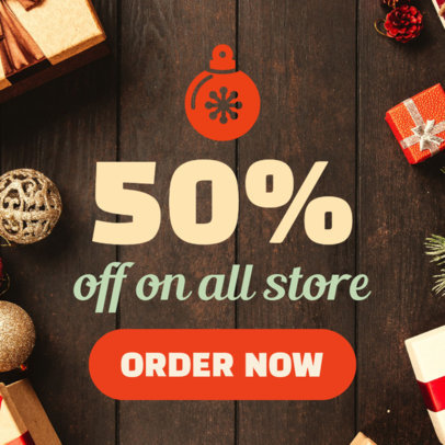 Holiday Banner Template for a 50% OFF 788e