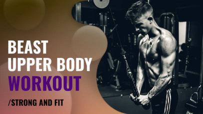 YouTube Thumbnail Maker for an Upper Body Workout Vlog 939
