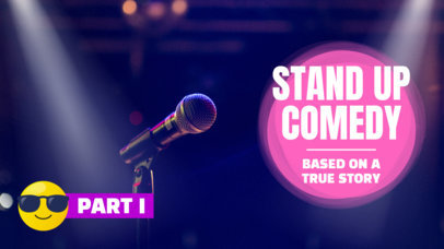 YouTube Thumbnail Template for a Stand Up Comedy Vlog 887