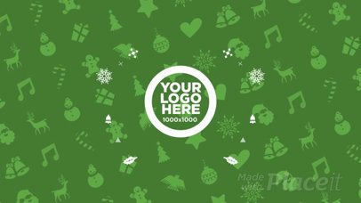 Christmas Video Maker for an Animated Logo Intro 196a