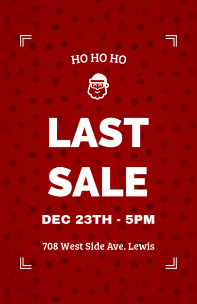 Christmas Flyer Template for a Holiday Sale 866a