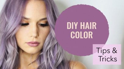 Colorful YouTube Thumbnail Design Template for Beauty Vlogs 883a