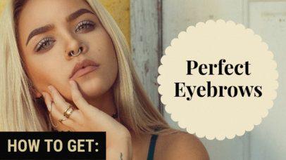 YouTube Thumbnail Design for Beauty Tutorials 883b