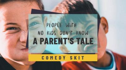YouTube Thumbnail Design Template for a Comedy Skit 936e